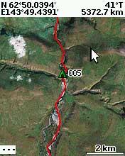 Трек на карте