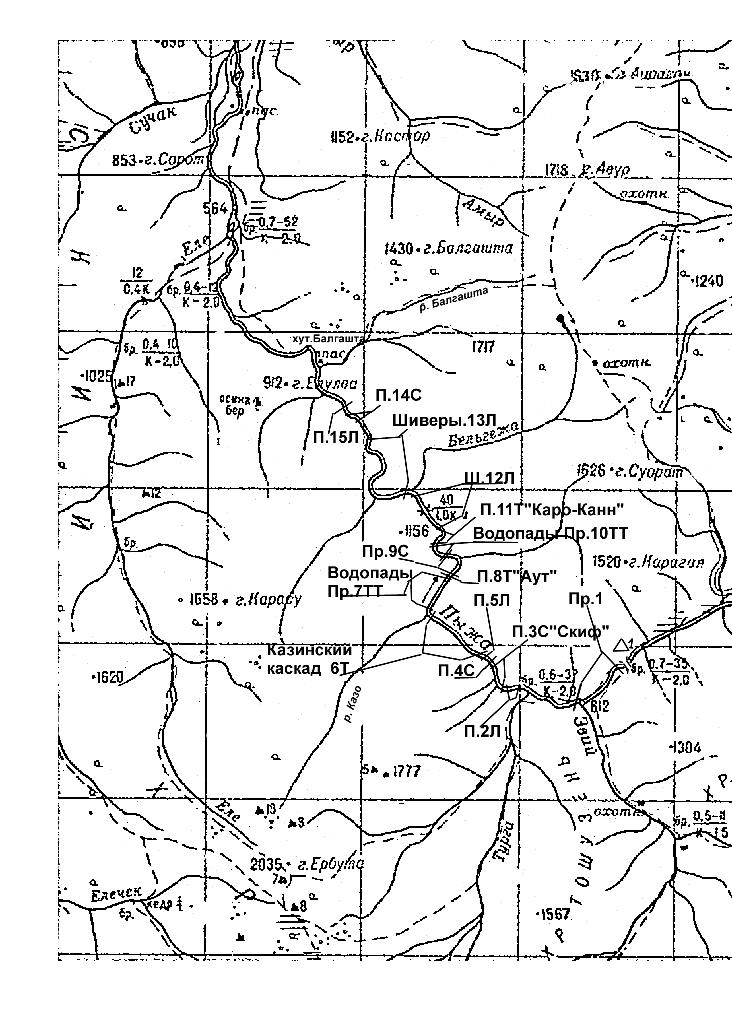Река Пыжа. Схема расположения